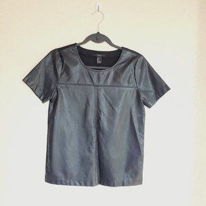 Forever 21 Faux Leather Top S